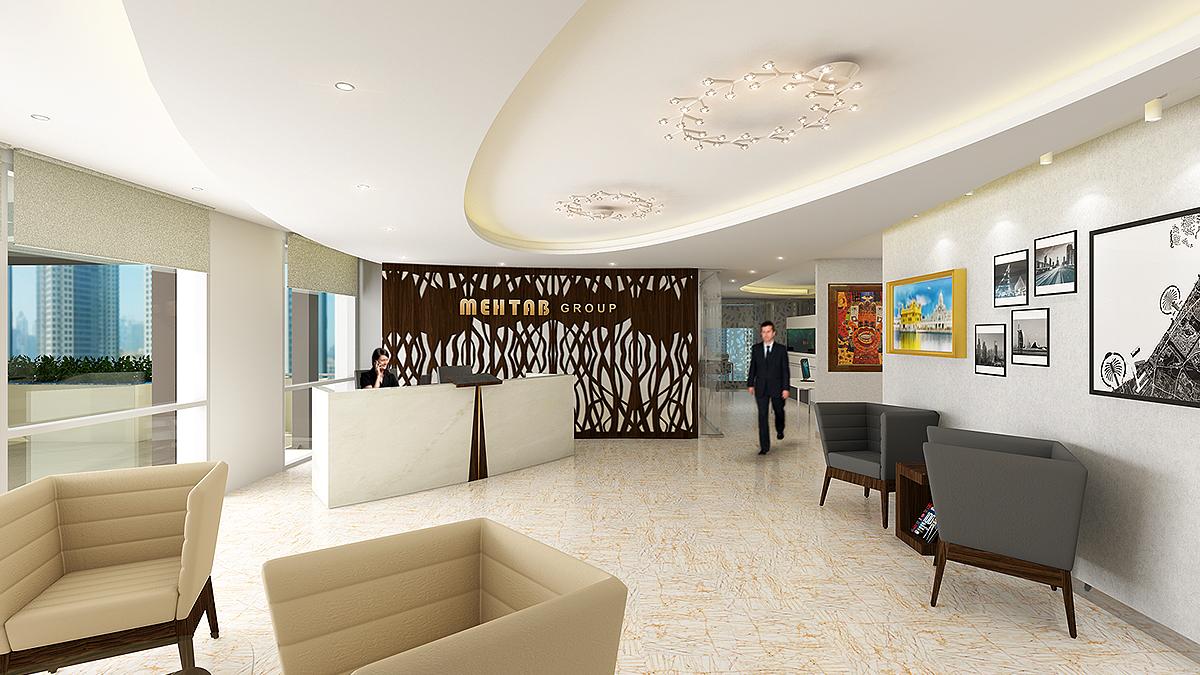 Top Interior Design Dubai Office Concept