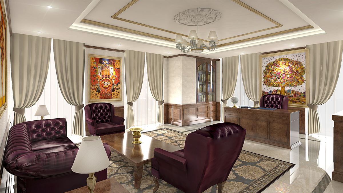 interiors pcg llc dubai office interior design. Black Bedroom Furniture Sets. Home Design Ideas